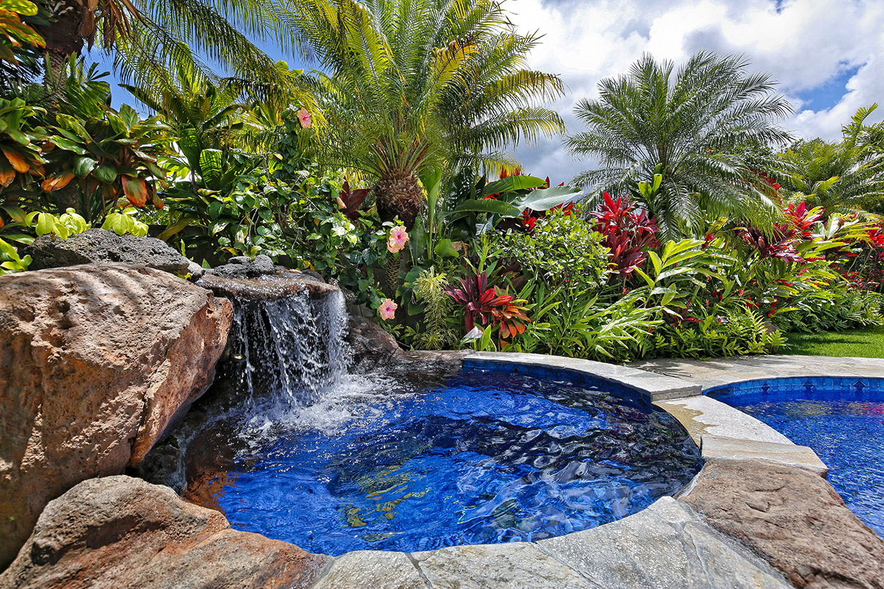 spa & waterfall